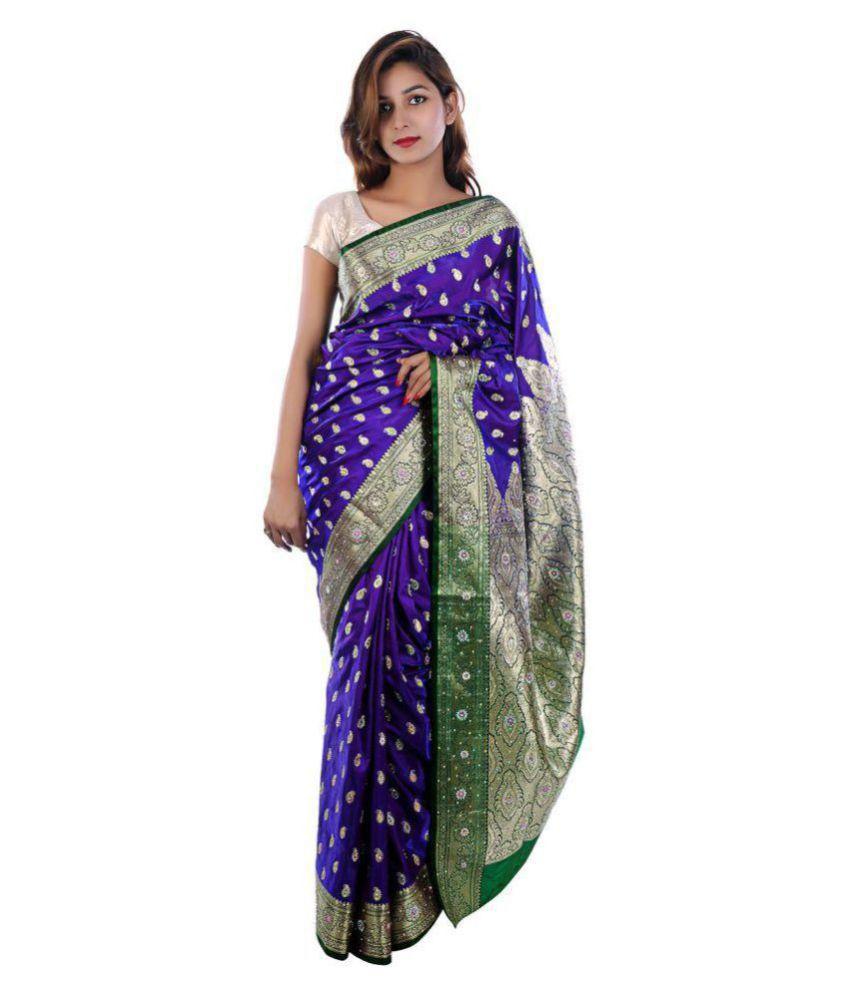 Kamila Creation Blue Banarasi Silk Saree
