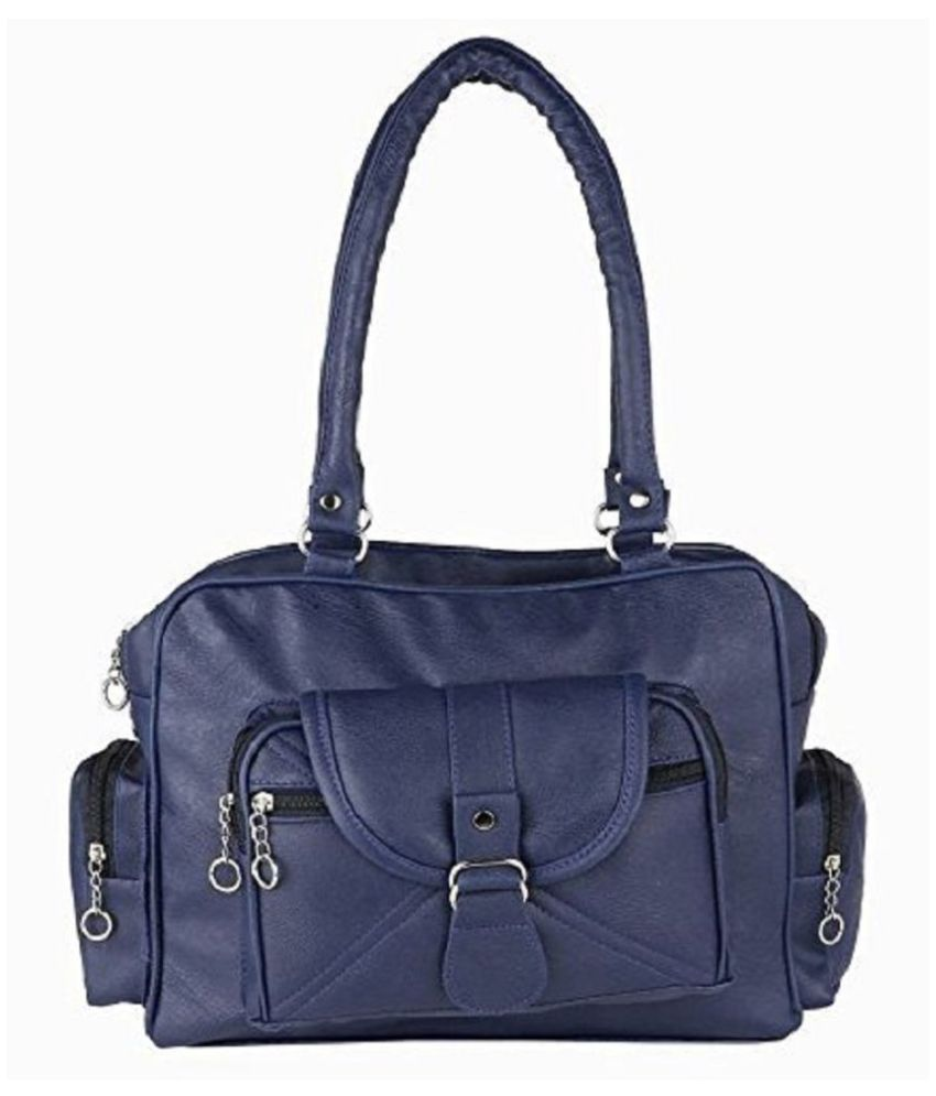 c982246dad3e mango star Blue Artificial Leather Shoulder Bag - Buy mango star Blue  Artificial Leather Shoulder Bag Online at Best Prices in India on Snapdeal