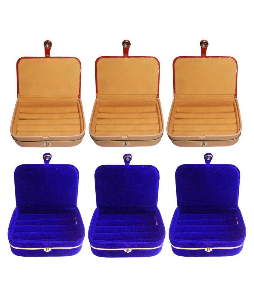 Shivansh Traders Combo of 3 pcs earEar ring folder and 3 pcs Ear ring jewelry box