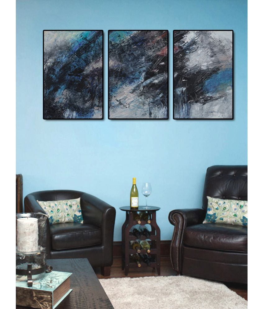 999Store    blue sky abstract  Acrylic Painting With Frame