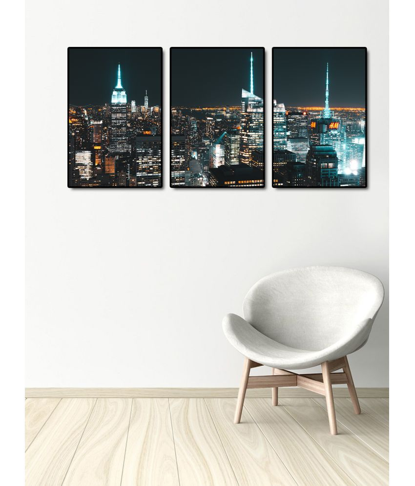 999Store    city view  Acrylic Painting With Frame