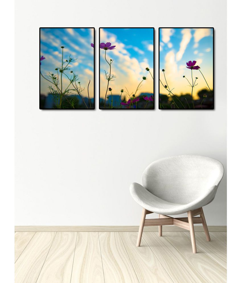 999Store    purple flower  Acrylic Painting With Frame