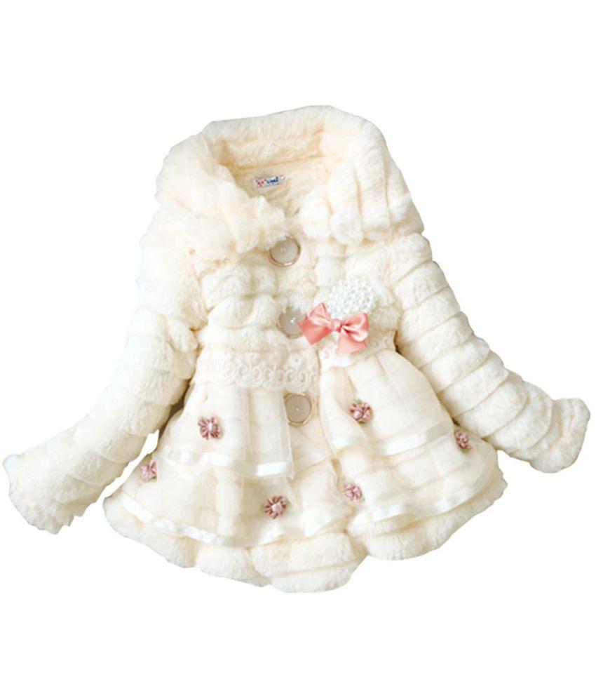 6e6c26f02 Children Toddlers Girls Baby Faux Fur Fleece Lined Coat Kids Winter ...