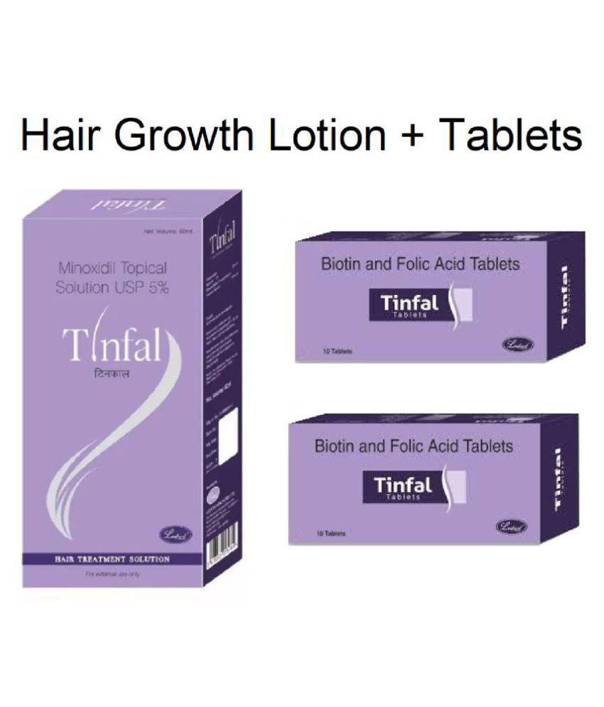 Tinfal Hair Growth Solution + 20 Tinfal Tablets Hair Growth