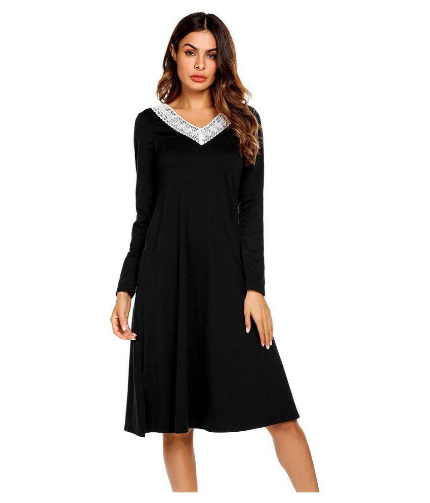 Generic Cotton Nightsuit Sets - Black