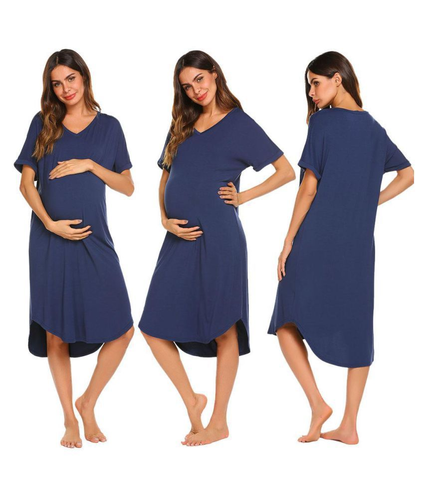 Generic Rayon Nightsuit Sets - Blue