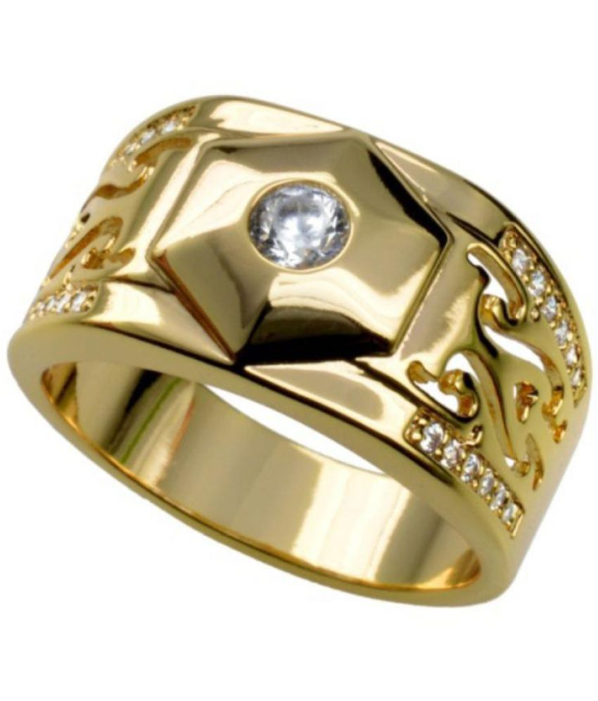 8abbafcf7 ... Fashion Zircon Inlaid Ring Men Women Couple Lover Wedding Party Band  Jewelry ...
