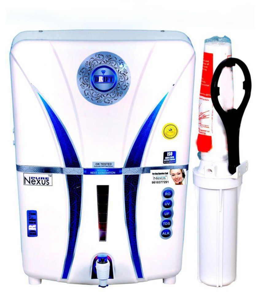 NEXUS PURE DRIFT 3 Copper + Alkaline RO+ UV +UF + TDS 14 Ltr RO + UV + UF + TDS CONTROLLER Water Purifier