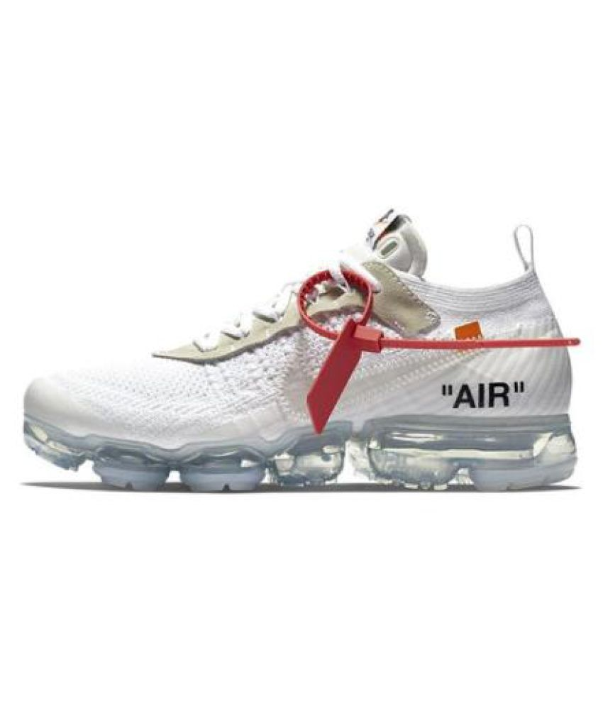 Nike vapormax off,white White Running Shoes