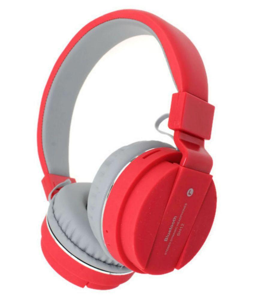 KEMIPRO Wireless Bluetooth Headphone Red