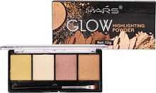 Mars Glow 9466B-03 Palette Highlighter Multicolor 12 gm
