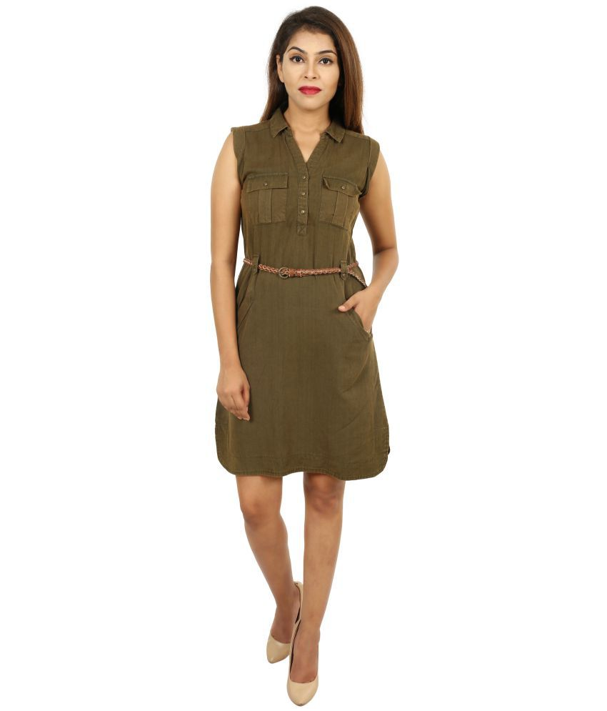 e6bd1a97a333 GOODWILL Cotton Green Pencil Dress - Buy GOODWILL Cotton Green Pencil Dress  Online at Best Prices in India on Snapdeal