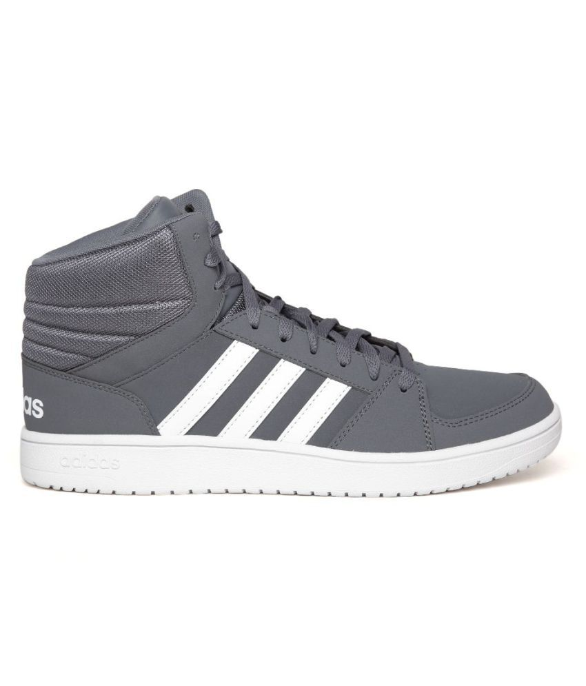 quality design d2cac 1fa4b ... Adidas NEO Men VS Hoops Mid-Top Sneakers Gray Casual Shoes ...