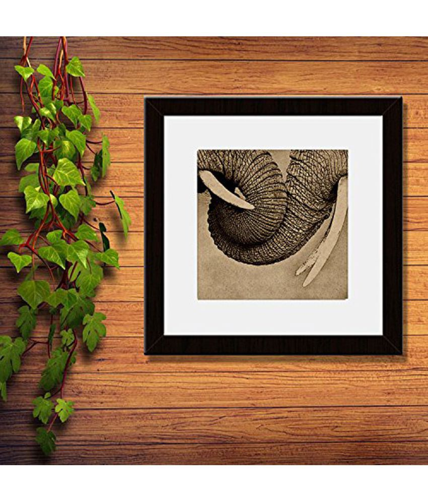 Incredible Gifts Engraved artwork on Wood -Elephants Wood Painting With Frame
