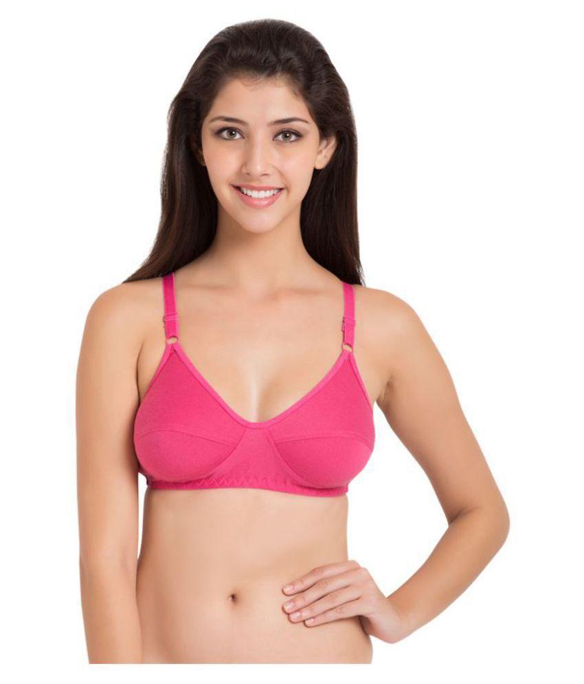 Sizzlacious Cotton Minimizer Bra - Pink