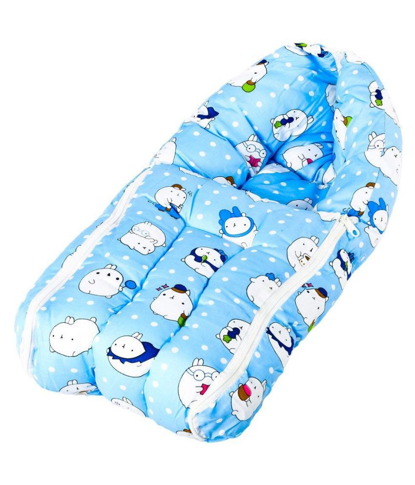 BAYBEE Blue Cotton Sleeping Bags ( 60 cm × 30 cm)