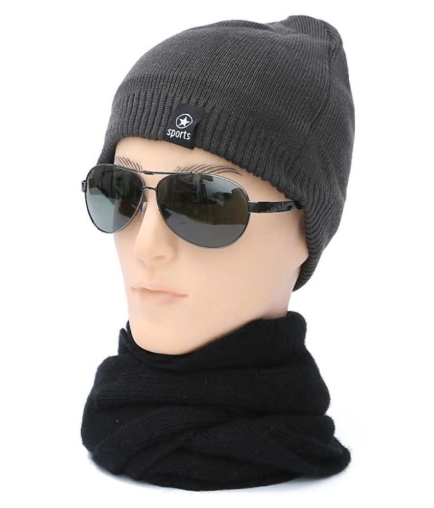 Generic gray Knitted Wool Hats