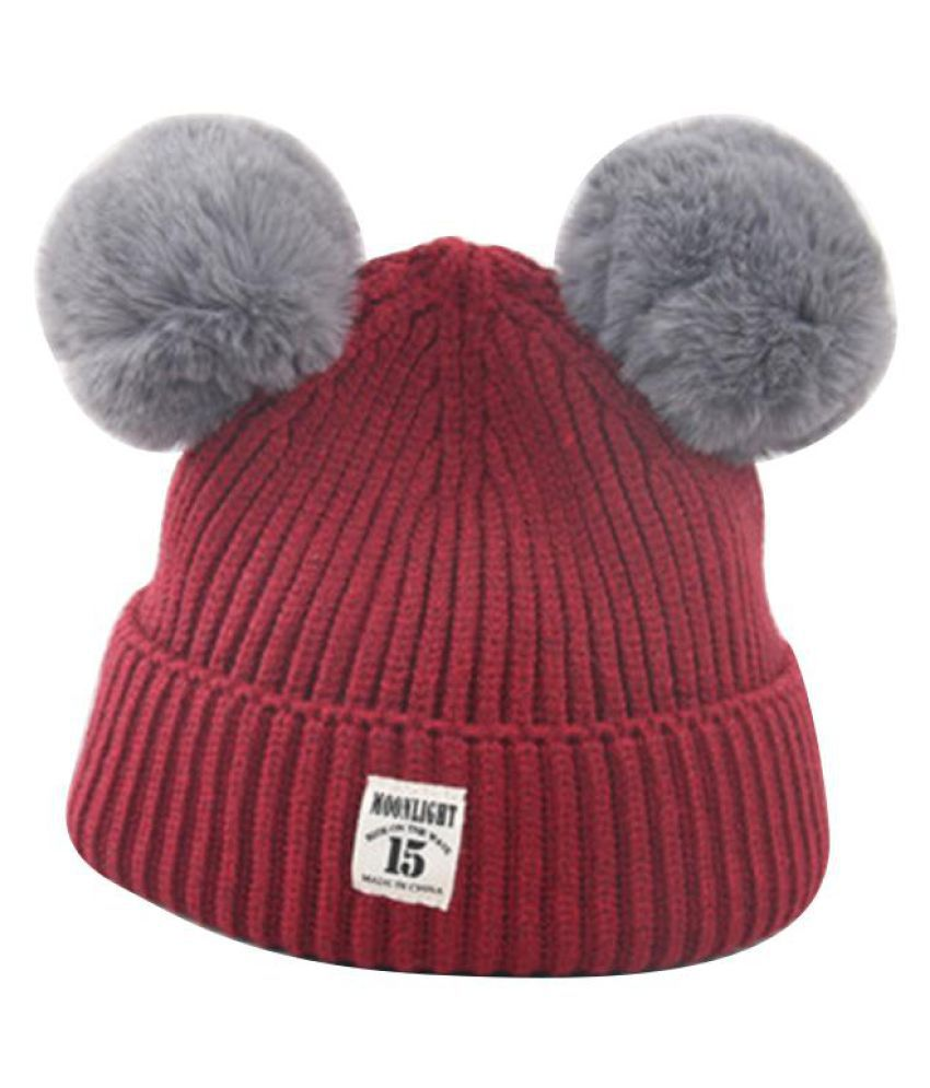 e0f76adc188 Fashion Winter Warm Cap Cute Fur Ball Ears Baby Boys Girls Knitted Beanie  Hat  Buy Online at Low Price in India - Snapdeal