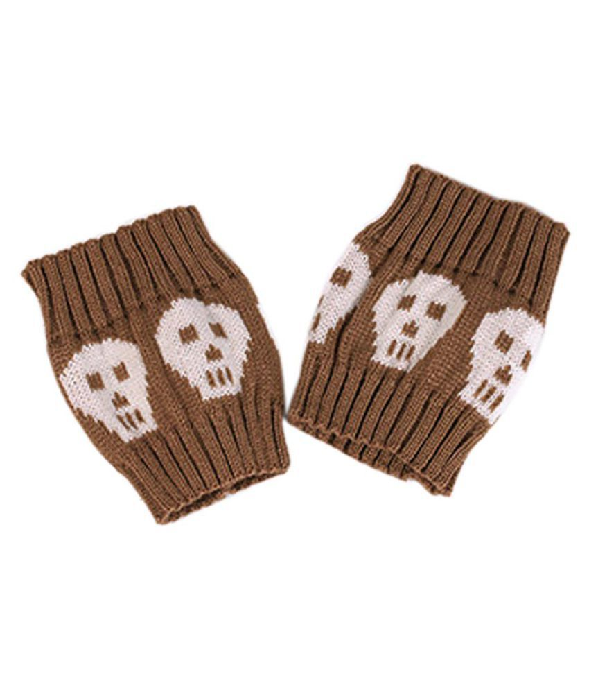 Skull Short Style Women Knitted Leg Warmers Cuffs Toppers Halloween Boot Socks