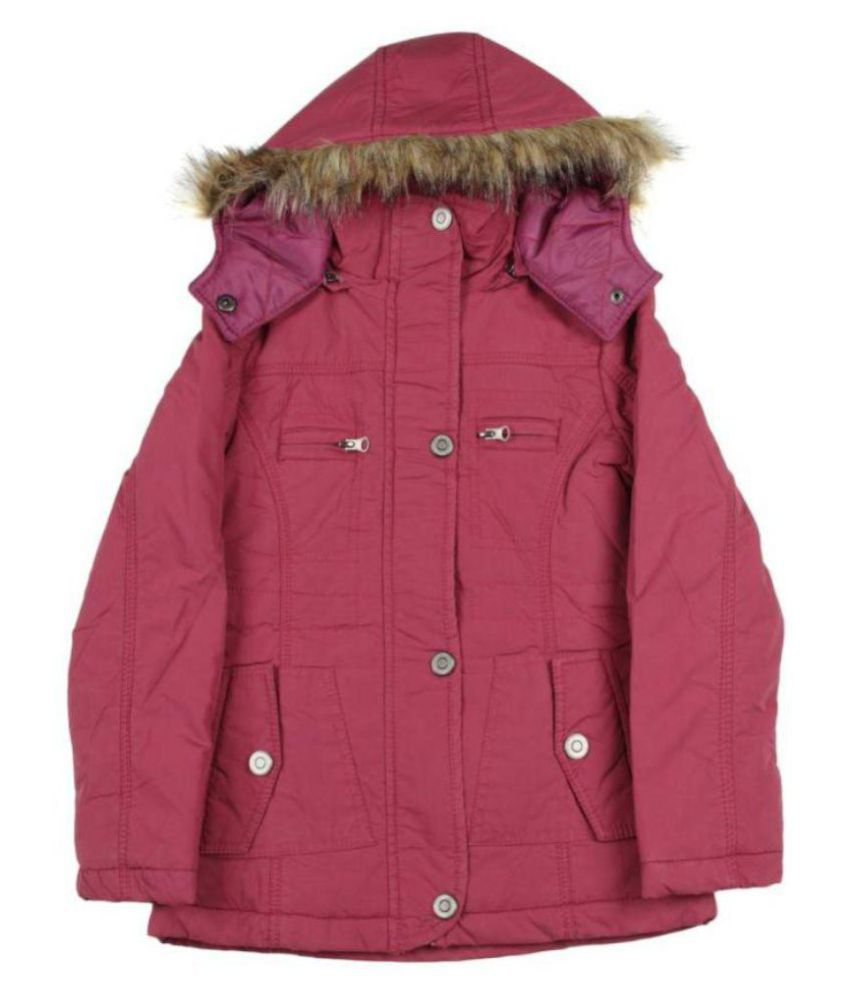 Fort Collins Full Sleeve Solid Girls Quilted Jacket