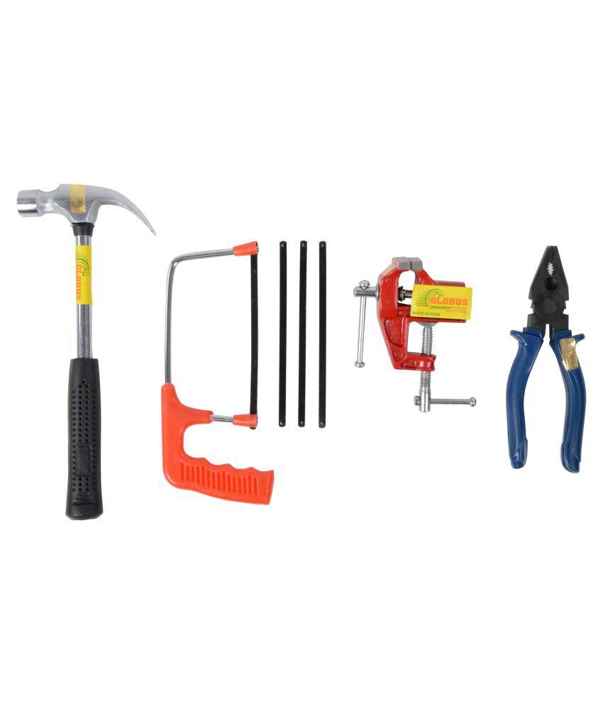 Globus Steel Hand tool Set/ 4 Pcs ( plier, 6