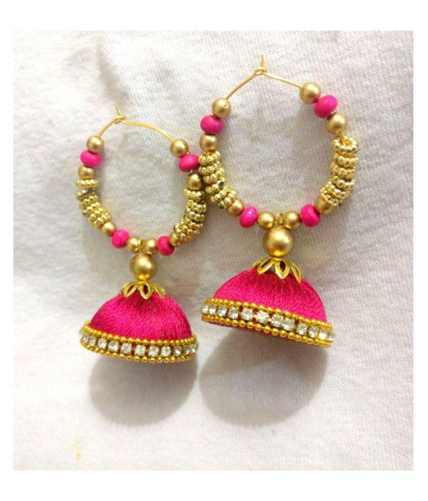 New fancy designer silk thread jhumka for women & girls