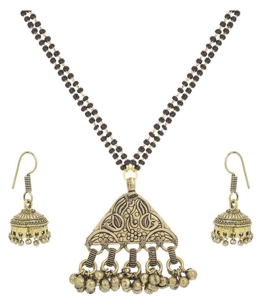 Aadita Ethnic Traditional Temple Tribal Mangalsutra Set with Earrings