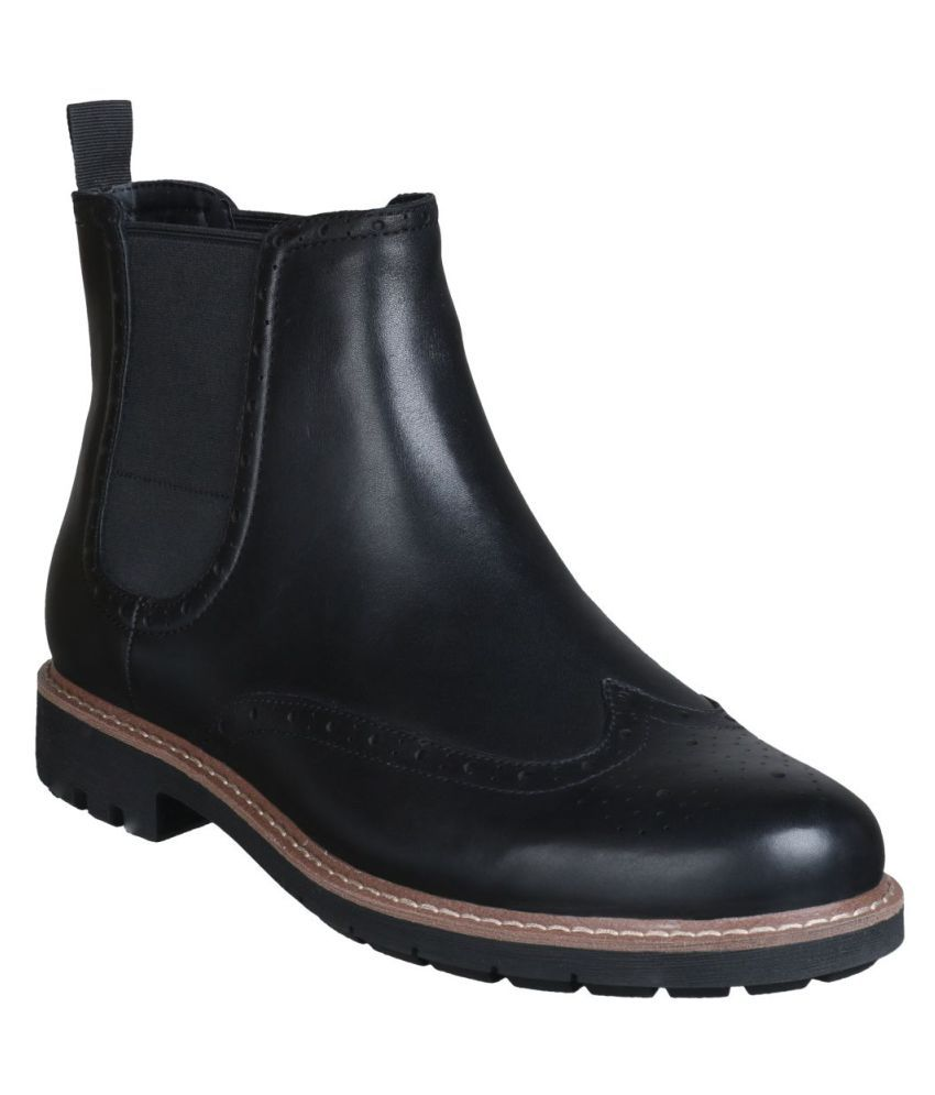 Clarks Black Chelsea boot