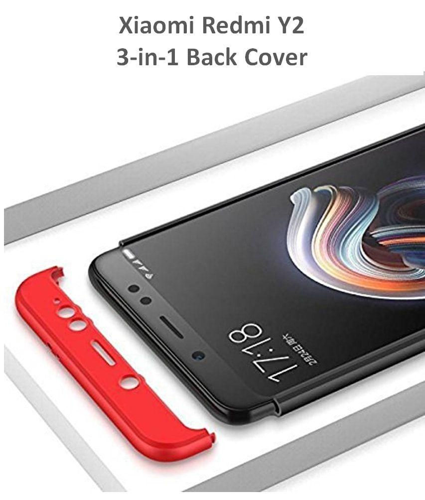 online retailer 70d54 7a7c3 Xiaomi Redmi Y2 3-in-1 Shockproof Plain Cases Dirar - Black