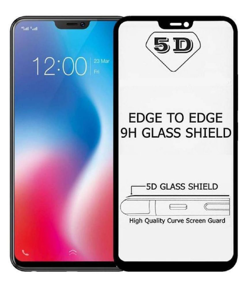 Oppo F7 Tempered Glass Screen Guard By Head Kik Edge To Edge Full Screen Cover 5D Tempered Glass