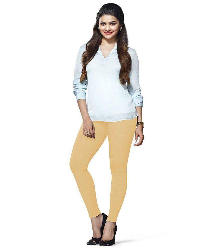 DV Fashion Cotton Lycra Jeggings - Beige