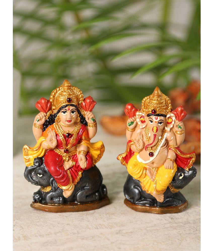 Aapno Rajasthan Laxmi Ganesh Terracotta Idol