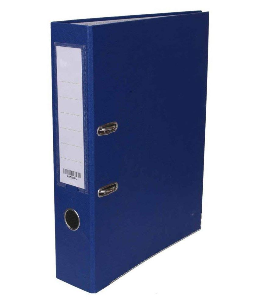 Blue Premium Quality Paper Board Lever Arch File FC pack of 2