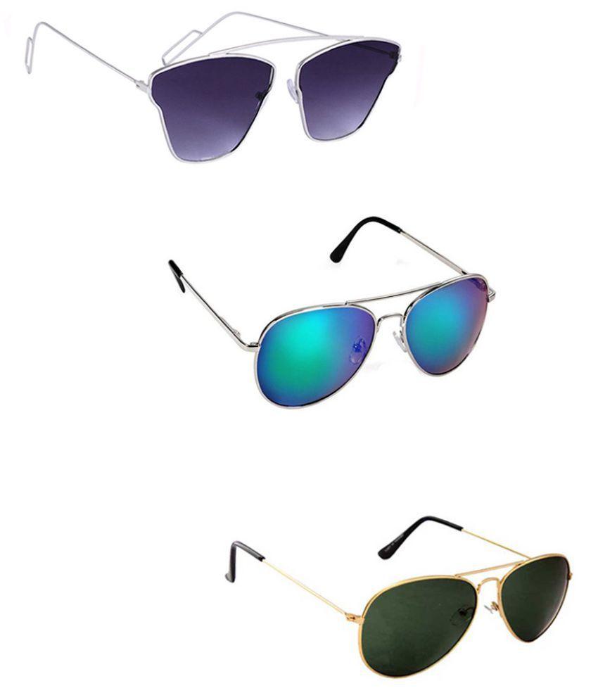 Lee Topper Purple Aviator Sunglasses ( DDS-18 )