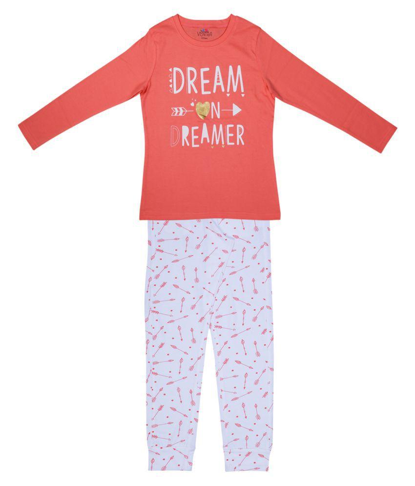 Ventra Girls Dreamer Full Sleeve Nightwear