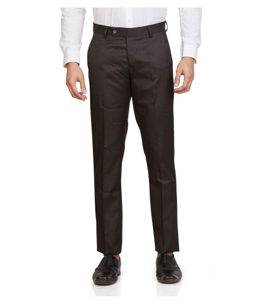Leo Brown Tapered -Fit Flat Trousers