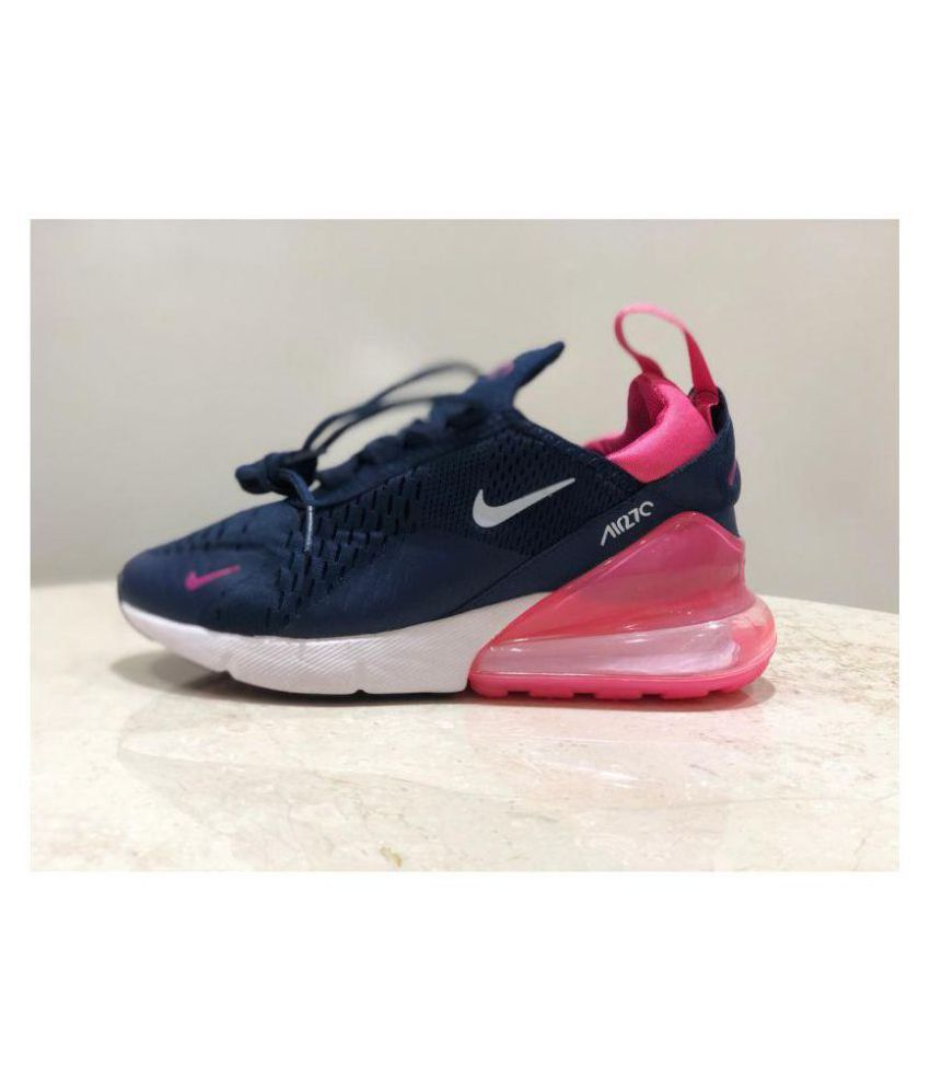 the best attitude a4bc3 3ecac Nike Air Max 270 Navy Blue Womens Running Shoes
