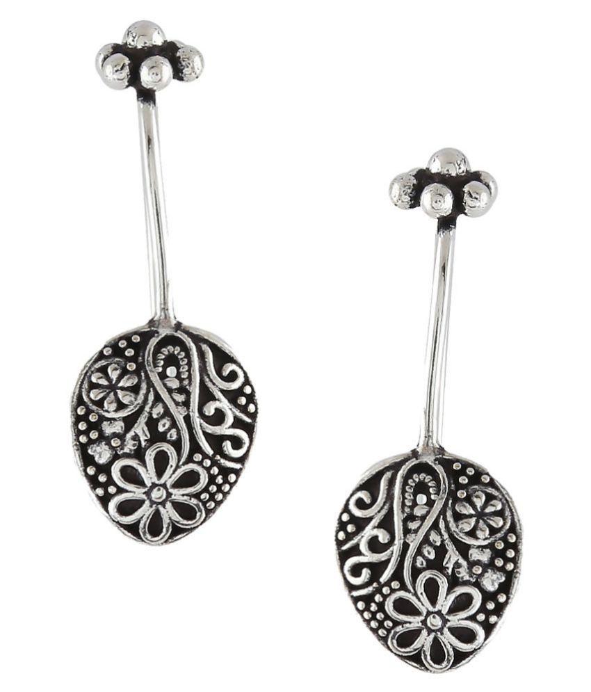 Anuradha Art Presenting Simple & Stylish German Silver Bugadi Tribal Upper Ear Clip Earrings For Women/Girls