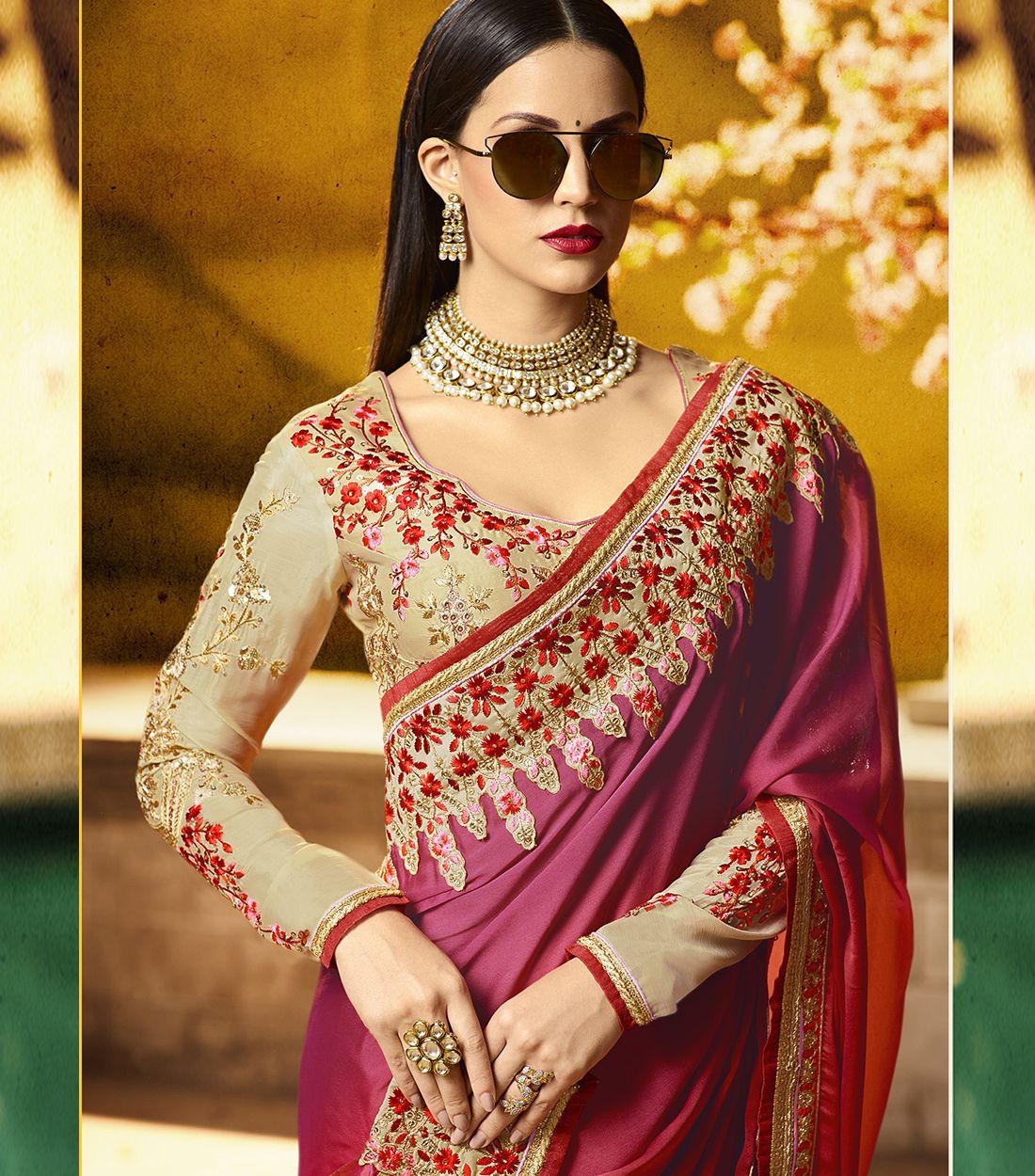 Biba Pavecha's RED Silk Saree
