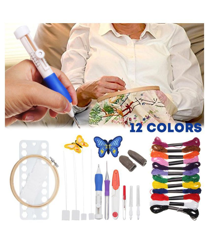 Diy Embroidery Needle Pen Set Craft Punch Magic Diy Knitting 12
