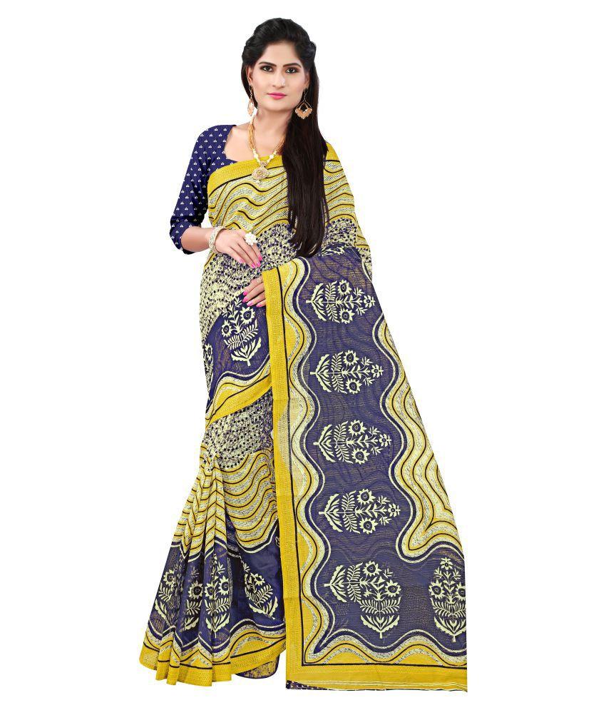 Today Deal Blue Bhagalpuri Silk Saree