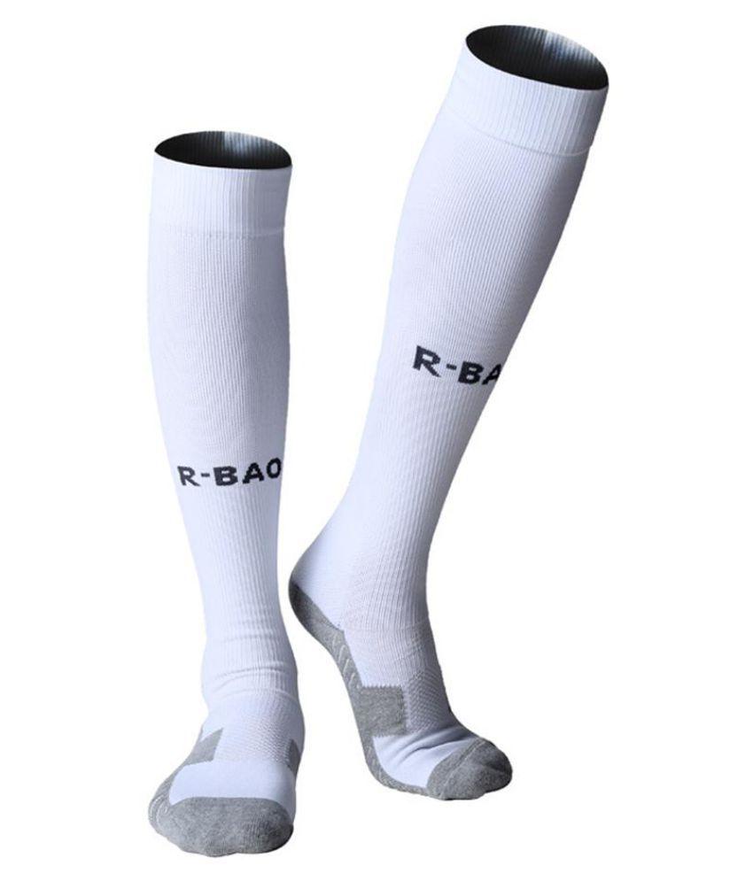 a7e55cd0e31 1 Pair Cotton Long Soccer Socks Sport Men Football Ankle Calf Guard  Protector ...