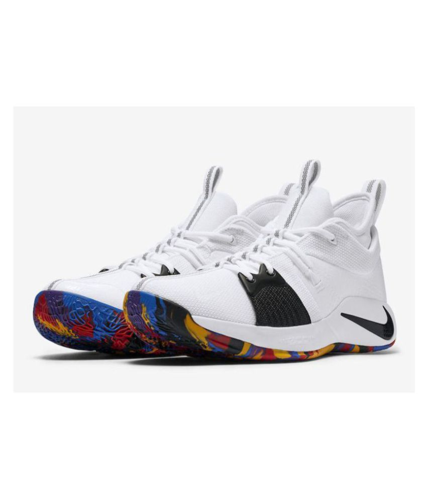 finest selection fac56 c8785 Nike PG 2 PAUL GEORGE White Basketball Shoes