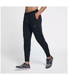 Nike Black Polyester Trackpants