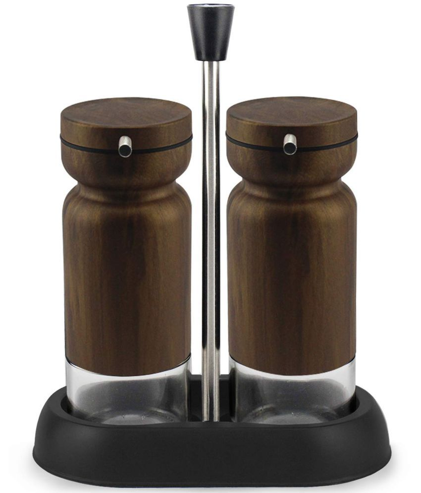 Home Puff Glass Oil Container/Dispenser Set of 2 335 mL