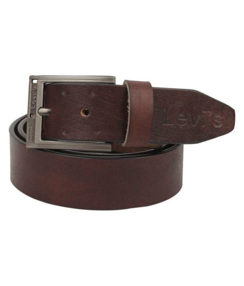 levi's Brown Leather Casual Belt