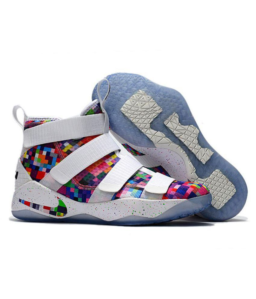 new style 8d31f 0f801 Nike Lebron Soldier XI 11 White Basketball Shoes - Buy Nike Lebron Soldier  XI 11 White Basketball Shoes Online at Best Prices in India on Snapdeal