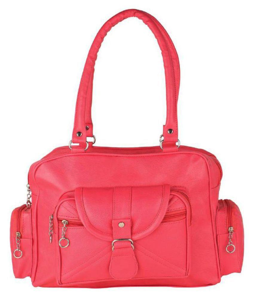 mango star Hot Pink Artificial Leather Shoulder Bag