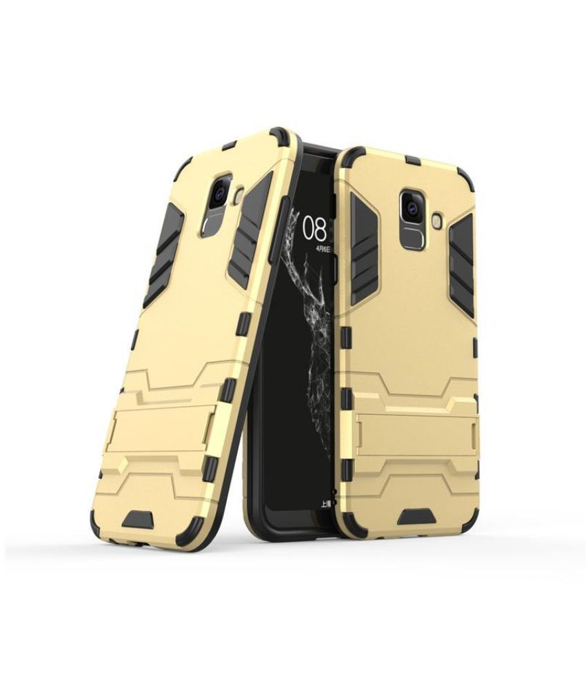 Samsung Galaxy J6 Cases with Stands CrackerDeal - Golden Robot Back Cover