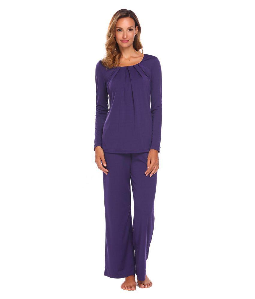 Generic Chiffon Pajamas - Purple